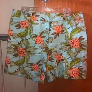 Talbots, size 12, floral shorts.